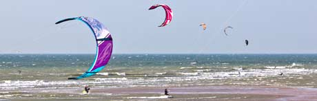 The kitesurfing competition 2014